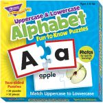 Alphabet Fun-to-Know Puzzles (Uppercase & Lowercase) Ages 3+